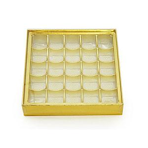 Praktische Pralinenschachtel in Gold für selbstgemachte Pralinen