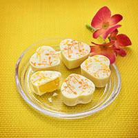 Passionsfrucht-Pfirsich-Herzen selber machen