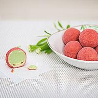 Waldmeister-Erdbeer-Pralinen selber machen