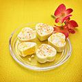 Passionsfrucht-Pfirsich-Herzen selbermachen